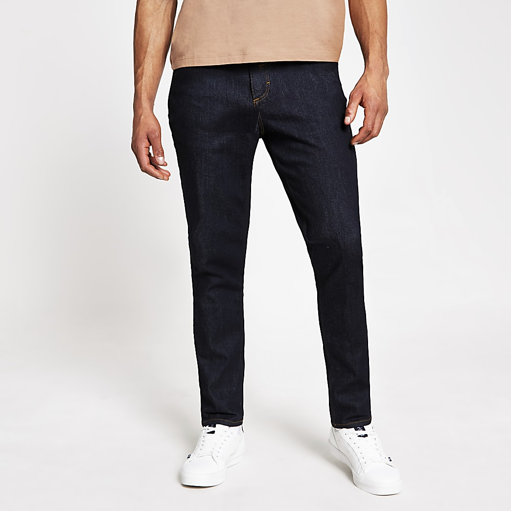 Dark blue Dylan slim fit stretch jeans