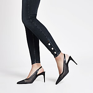 Dark blue Hailey high rise skinny jeans