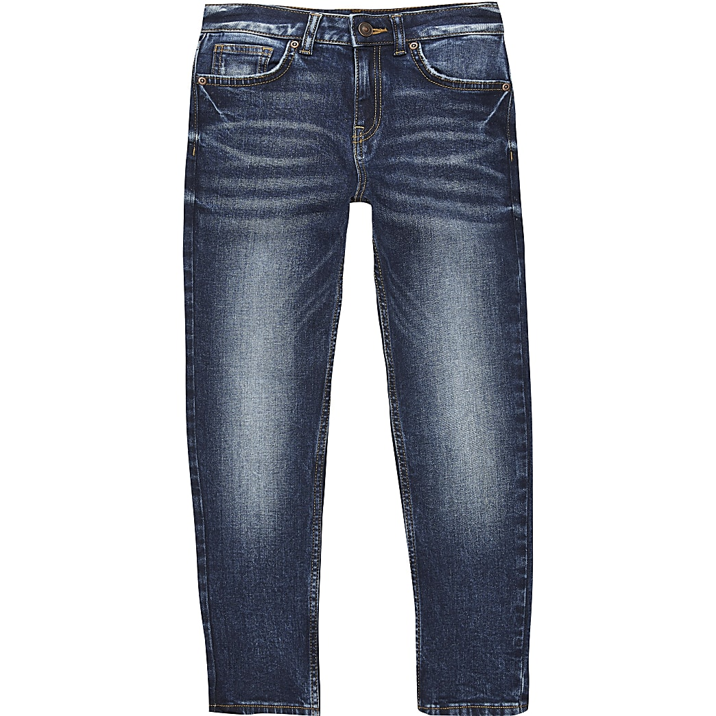 Dark blue Jake 'regular fit' denim jeans