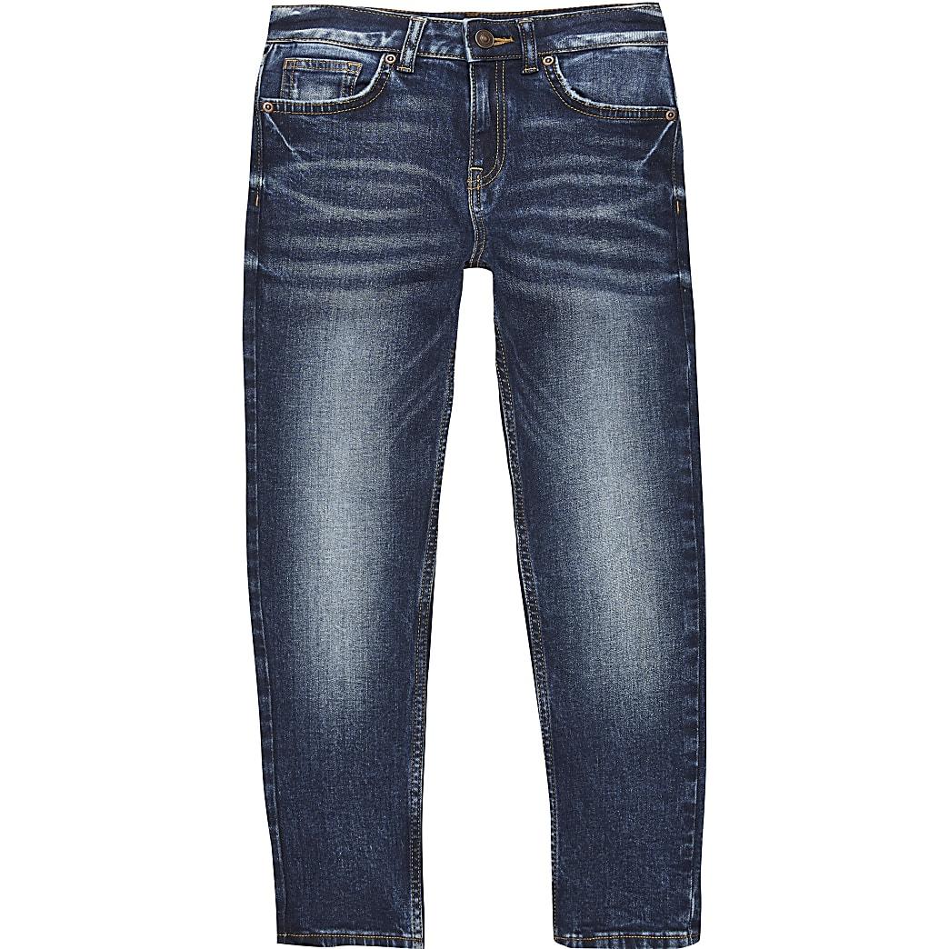 Jake - Donkerblauwe regular-fit denim jeans