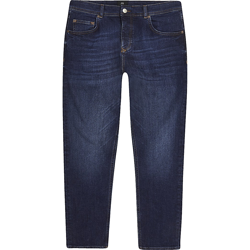 Dark blue Jimmy tapered cropped jeans