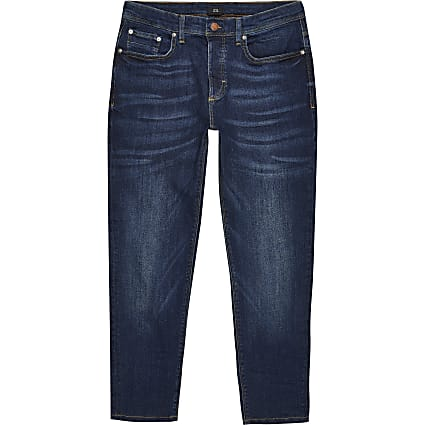 Dark blue Jimmy tapered fit jeans