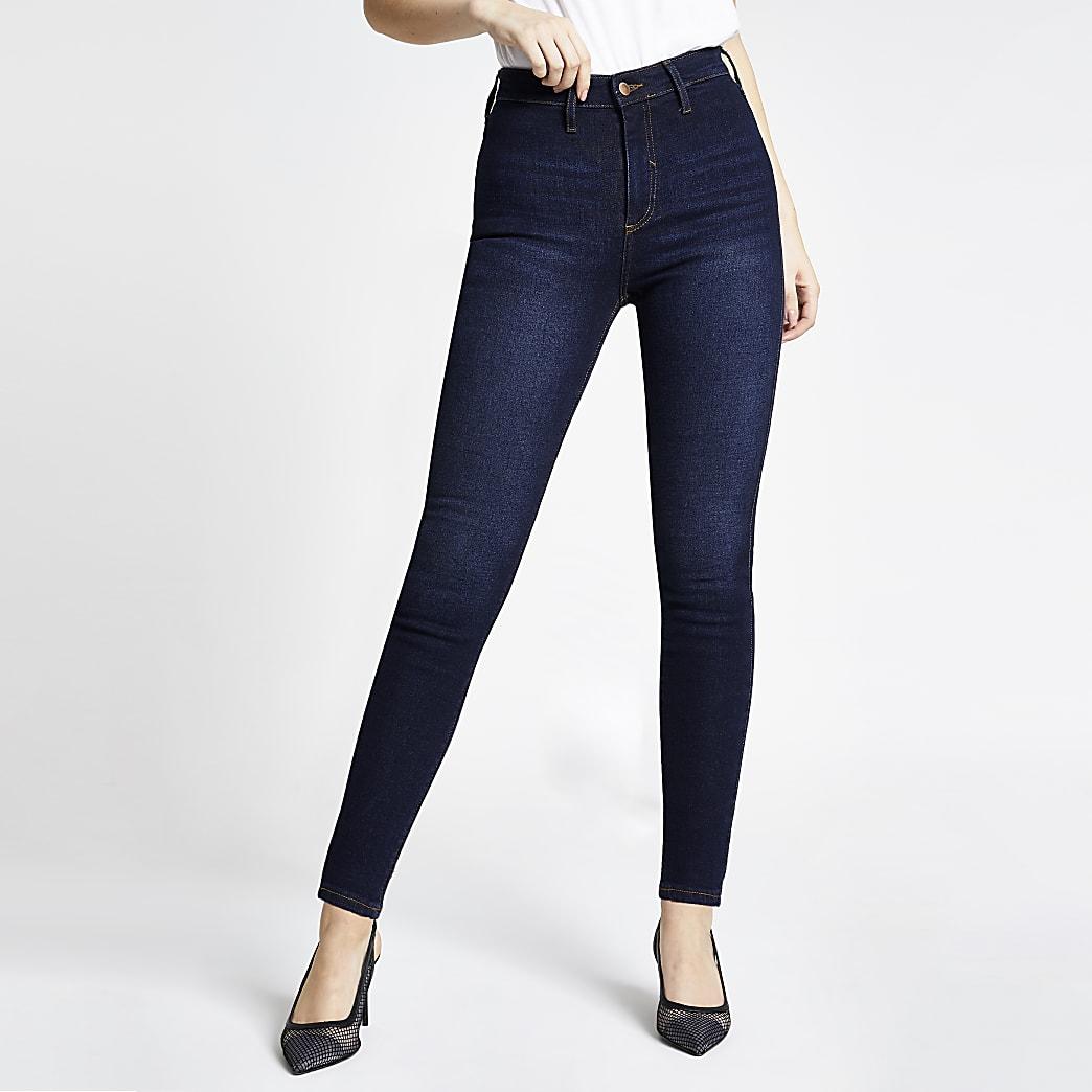 Dark blue Kaia high rise disco jeans