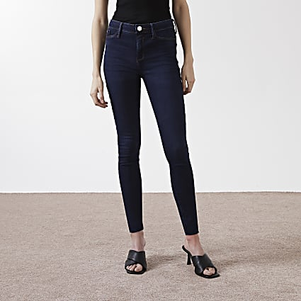 Dark Blue Molly mid rise skinny jean