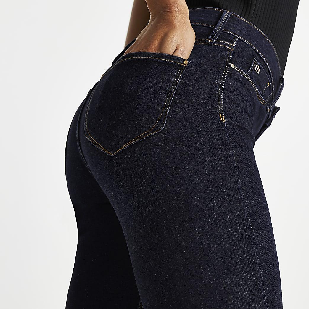 Dark Blue Molly Mid Rise Skinny Jeans