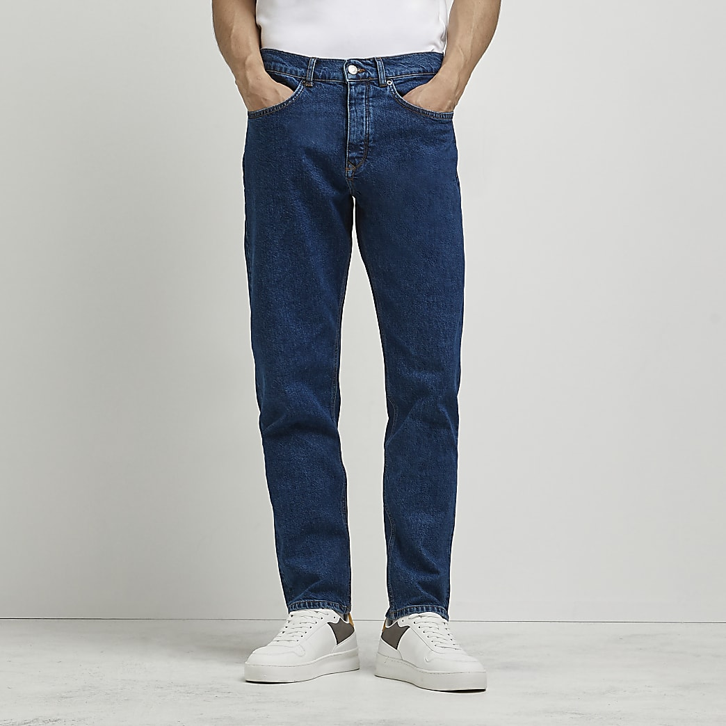 Dark blue relaxed fit jeans