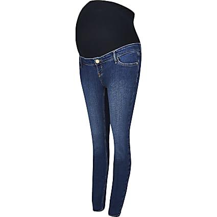 Dark Blue Skinny Maternity Jean