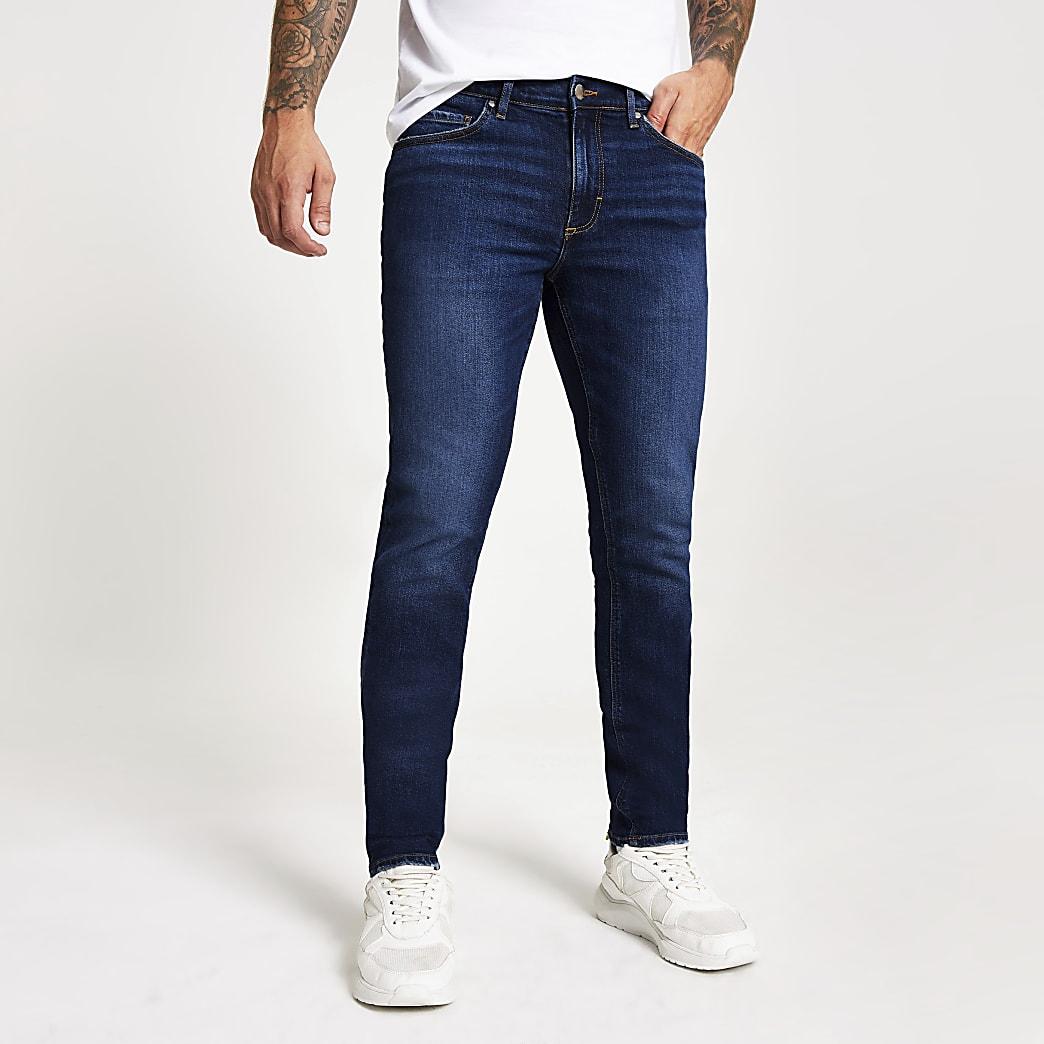 Dylan - Donkerblauwe slim-fit jeans
