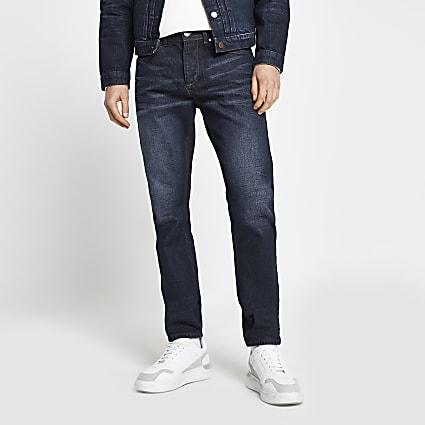Dark blue slim-skinny fit jeans