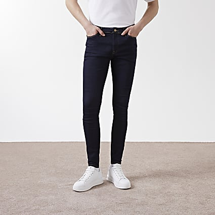 Dark Blue spray on skinny fit jeans