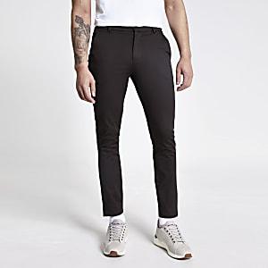 Pantalon chinoskinnymarron foncé