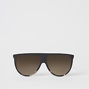 Dunkelbraune Visor-Sonnenbrille
