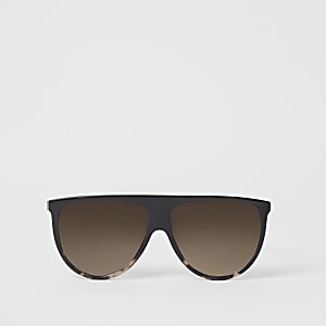 Donkerbruine visor zonnebril