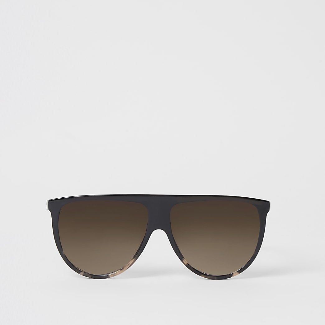 Dark brown visor sunglasses
