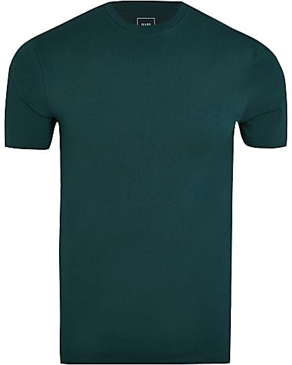 Dark green muscle fit t-shirt
