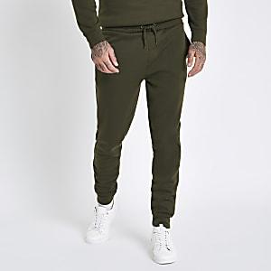 Dark green slim fit joggers