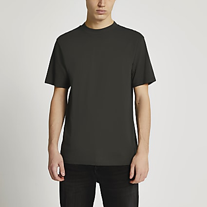Dark grey regular fit t-shirt