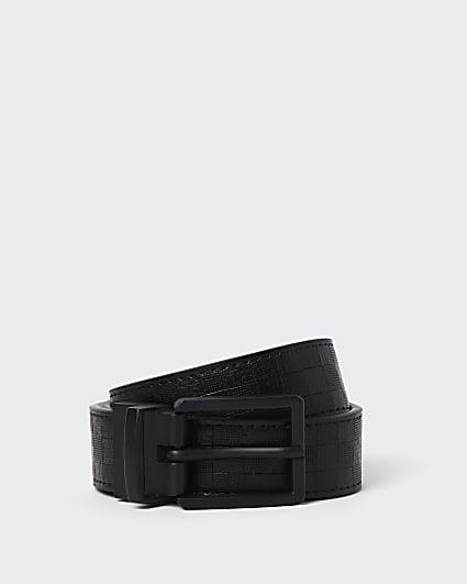 Dark grey reversible belt