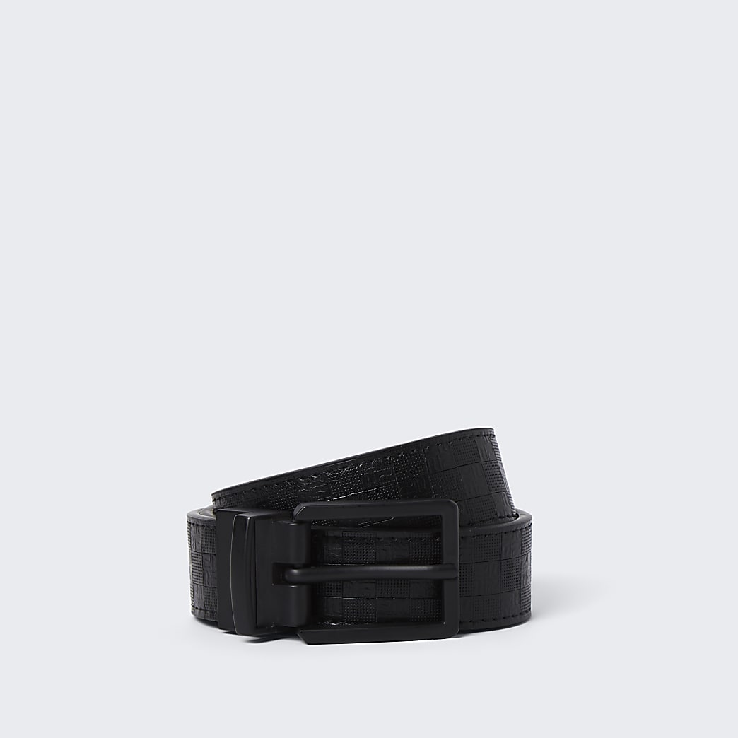 Dark grey reversible belt