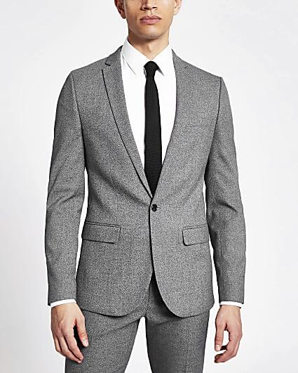 Dark grey skinny suit jacket