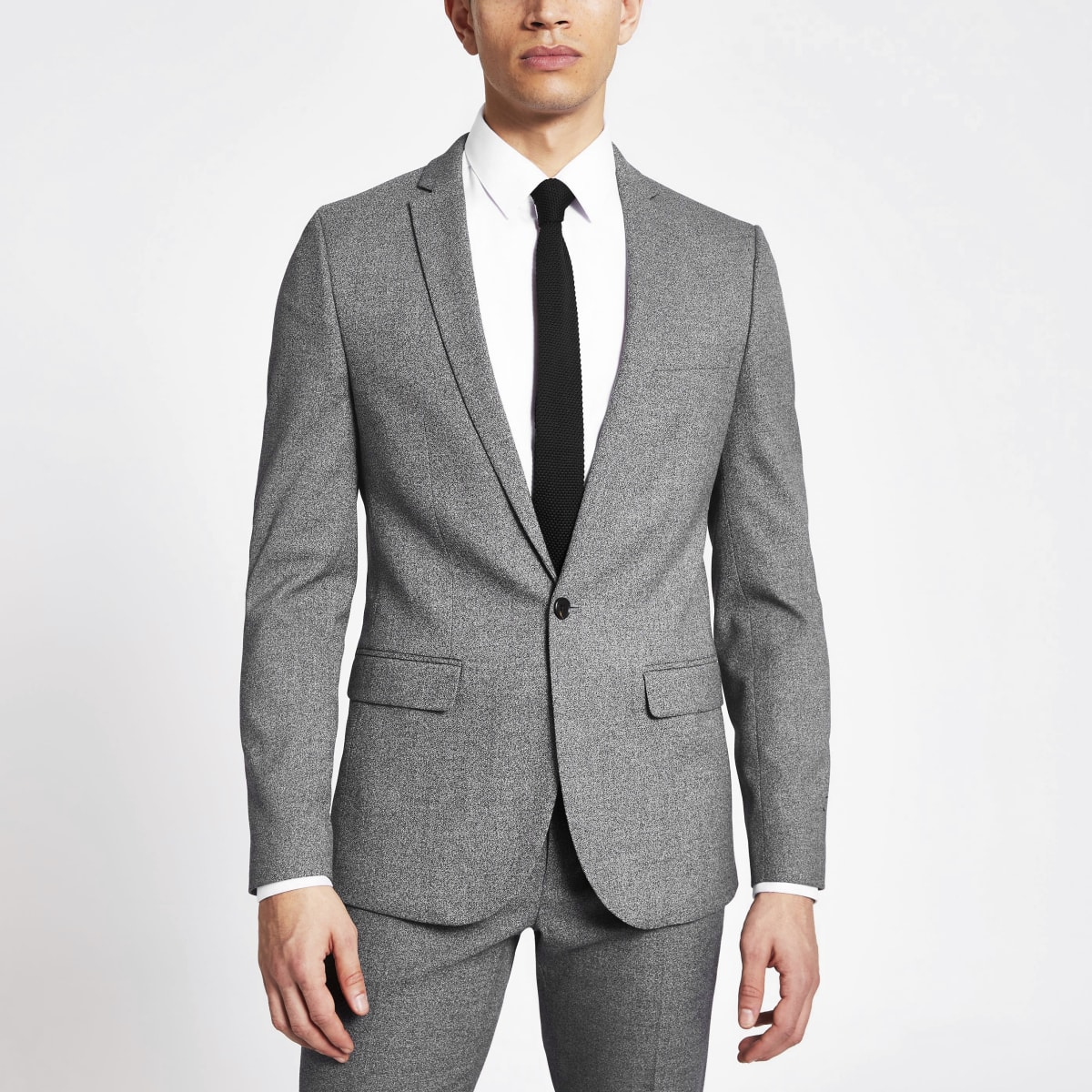 Veste de costume cintrée gris foncé