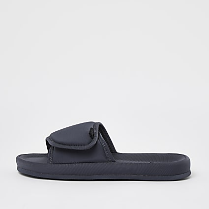 Dark grey velcro sliders