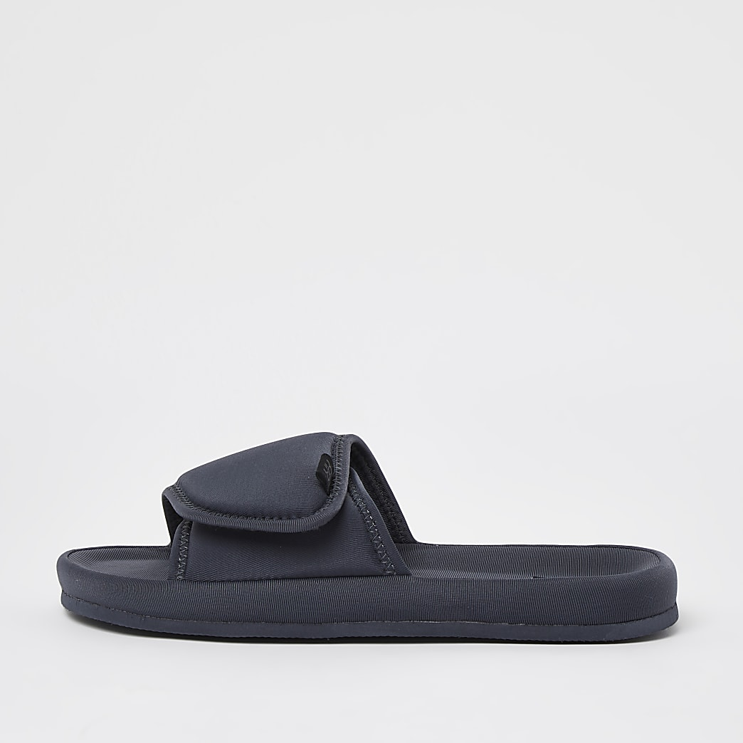 Dark grey velcro sliders