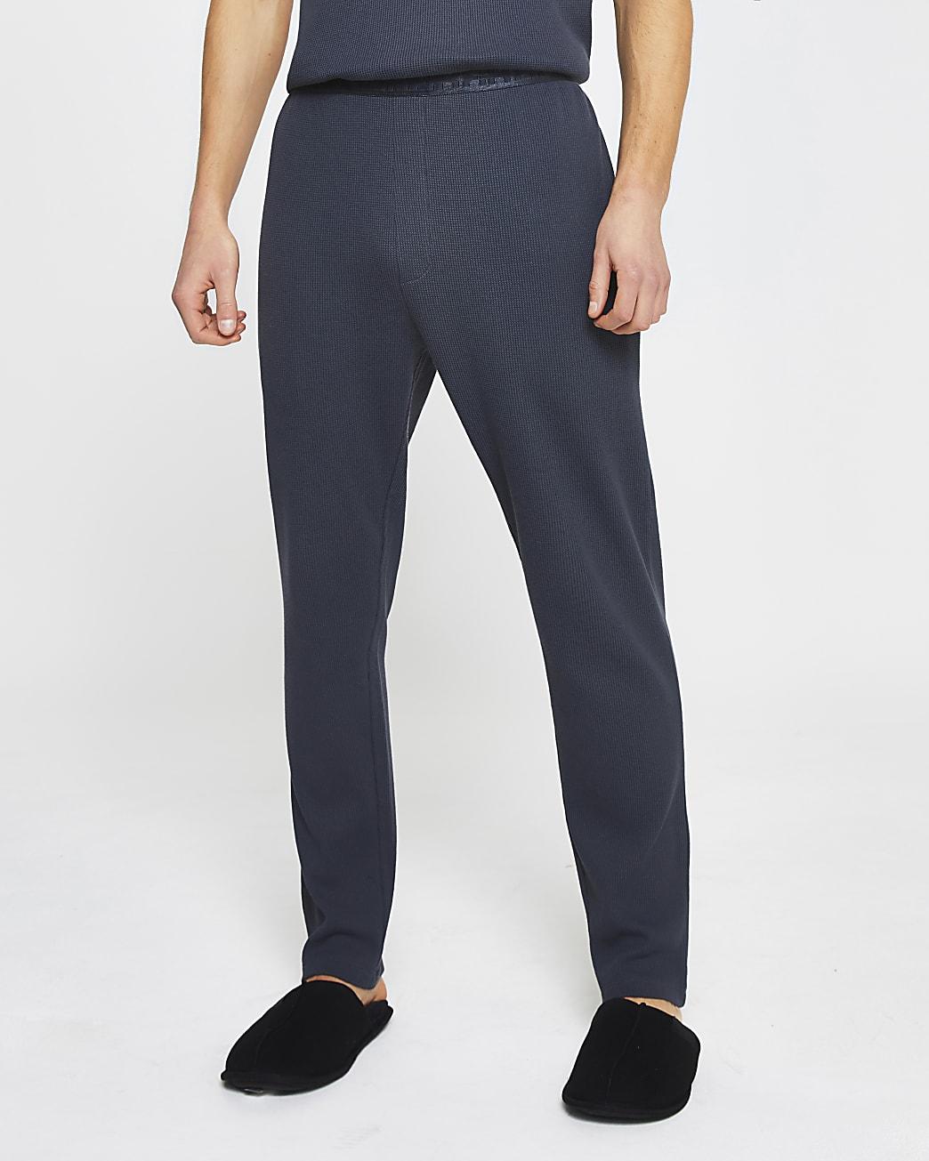 Dark grey waffle pyjama bottoms