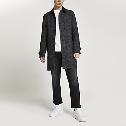 Dark grey wool blend coat
