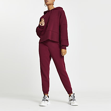Dark purple RI ONE washed joggers