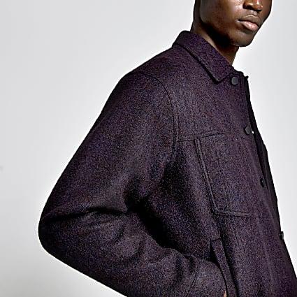 Dark red wool western jacket