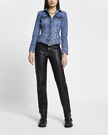 Denim elasticated waist jacket