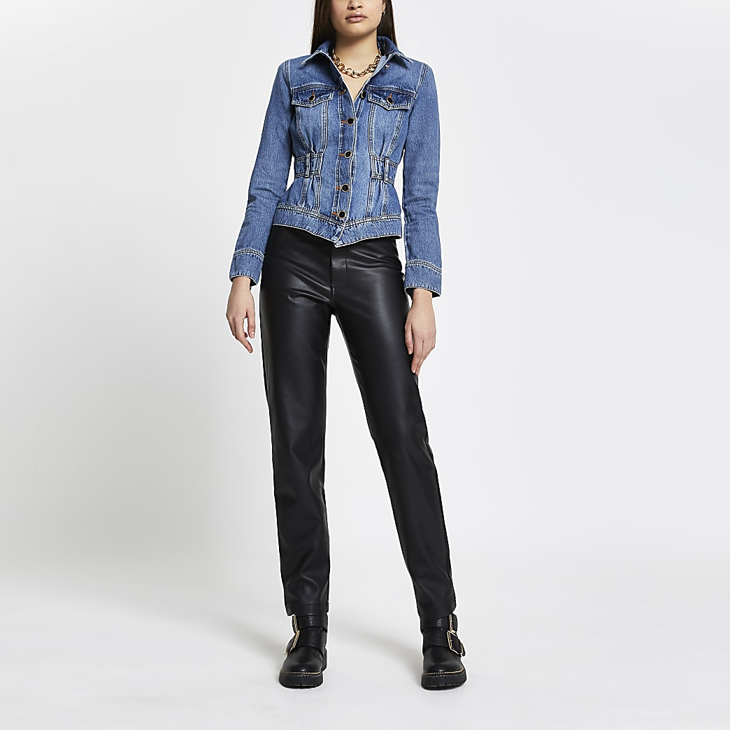 Denim elasticated waist jacket