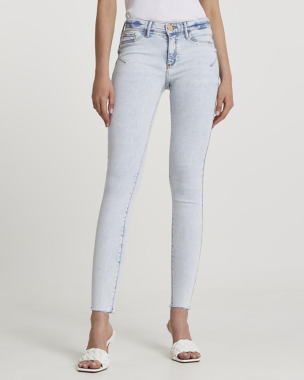 Denim low rise bum sculpt jeans