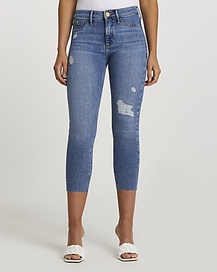 Denim Molly mid rise crop jeans