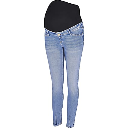 Denim Molly overbump maternity jeggings