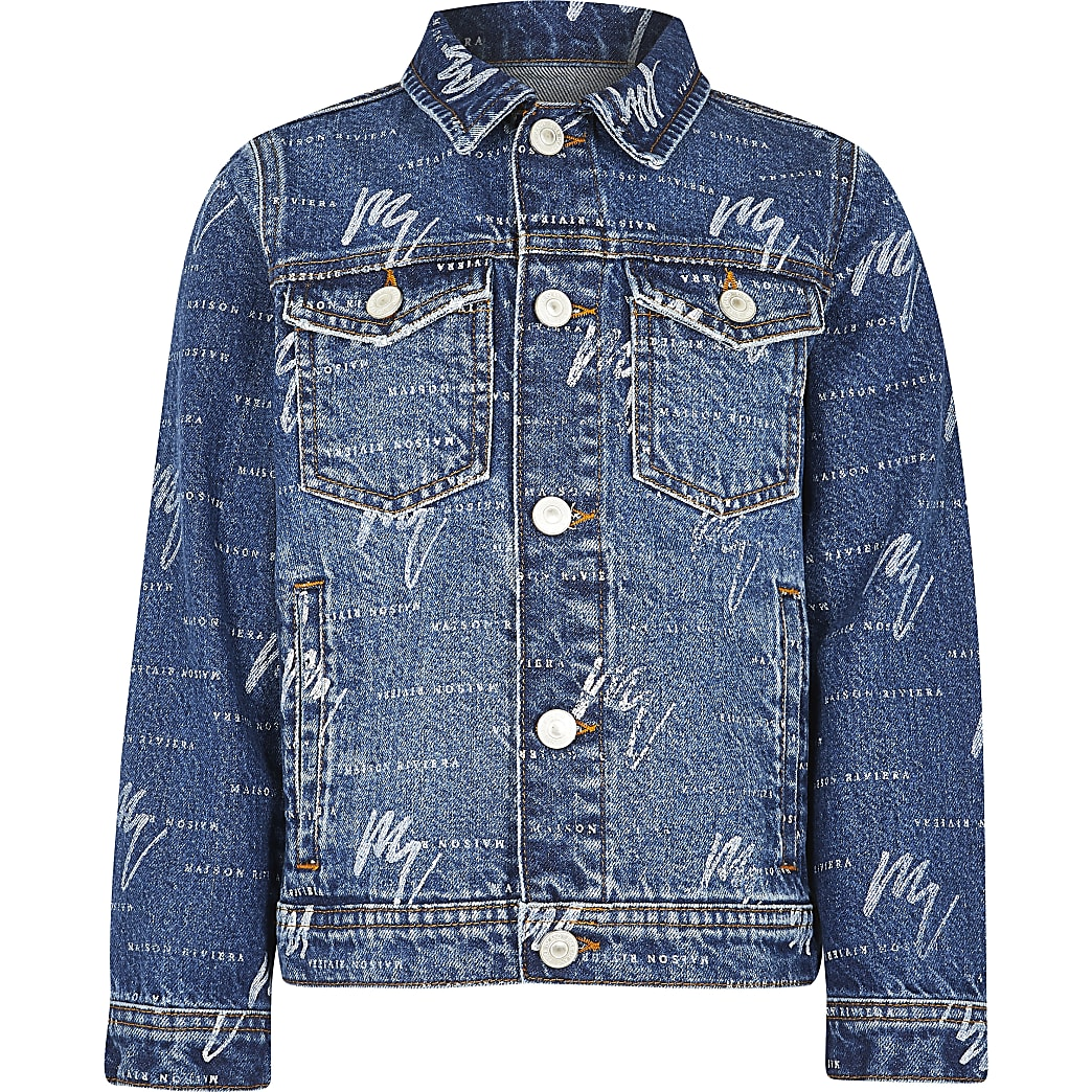 Denim printed jacket