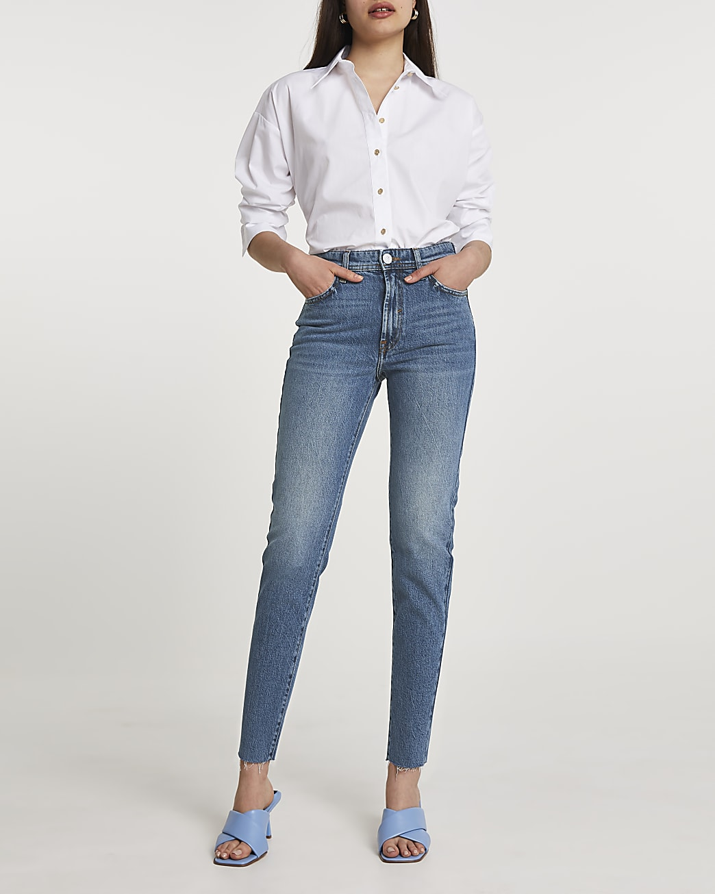 Denim slim leg jeans