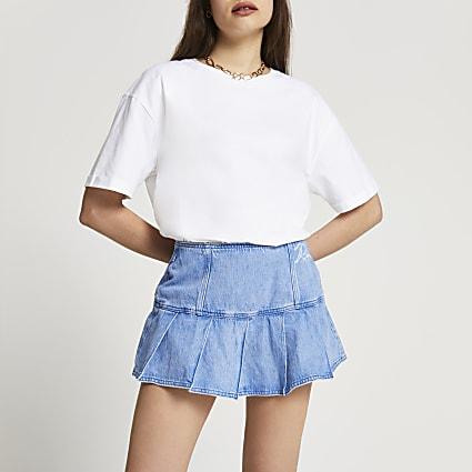 Denim tennis skort