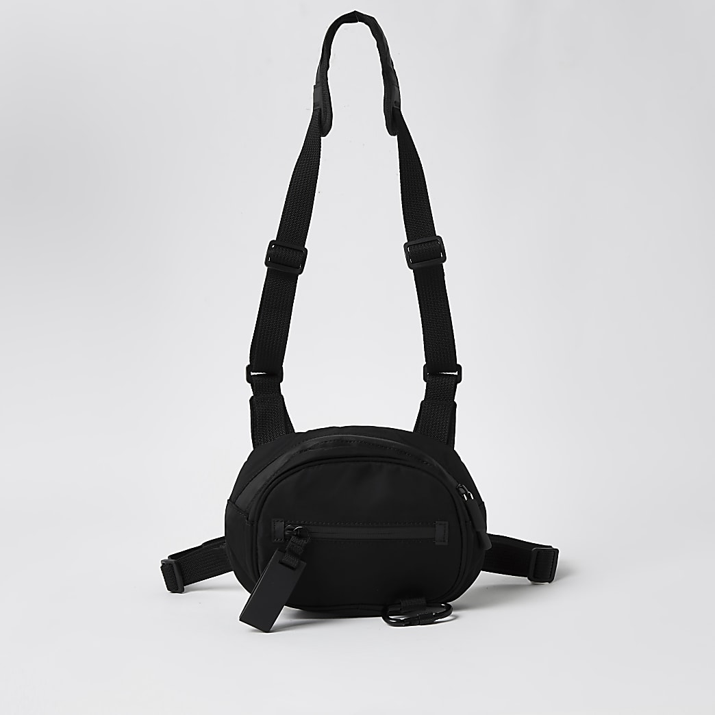 DVSN black chest bag