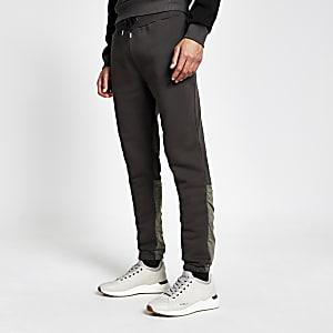 DVSN – Pantalons de jogging en nylon colour block noir