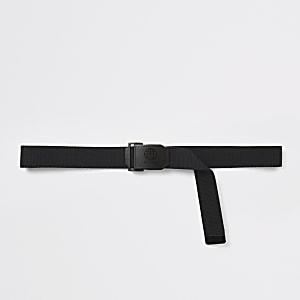 DVSN– Schwarzer Gürtel mit Plakettenschnalle