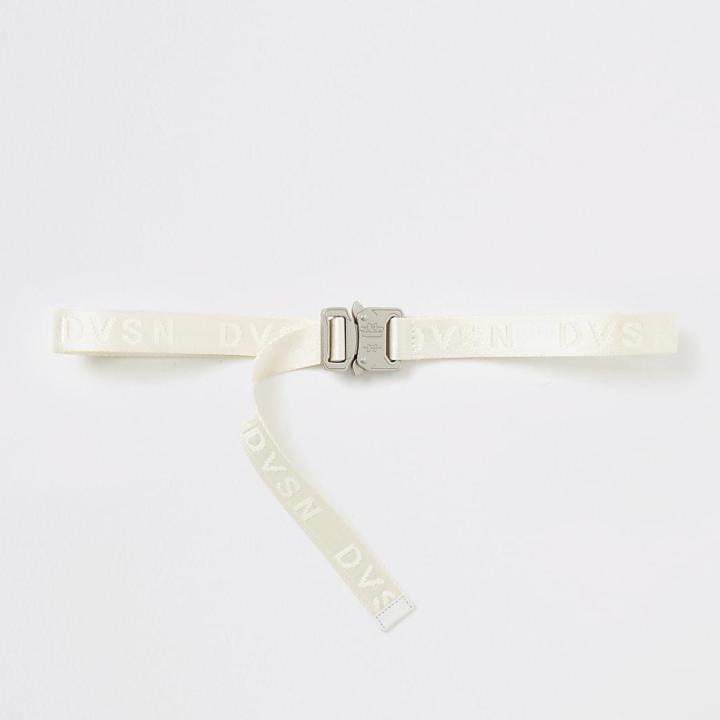 DVSN ecru clip buckle belt