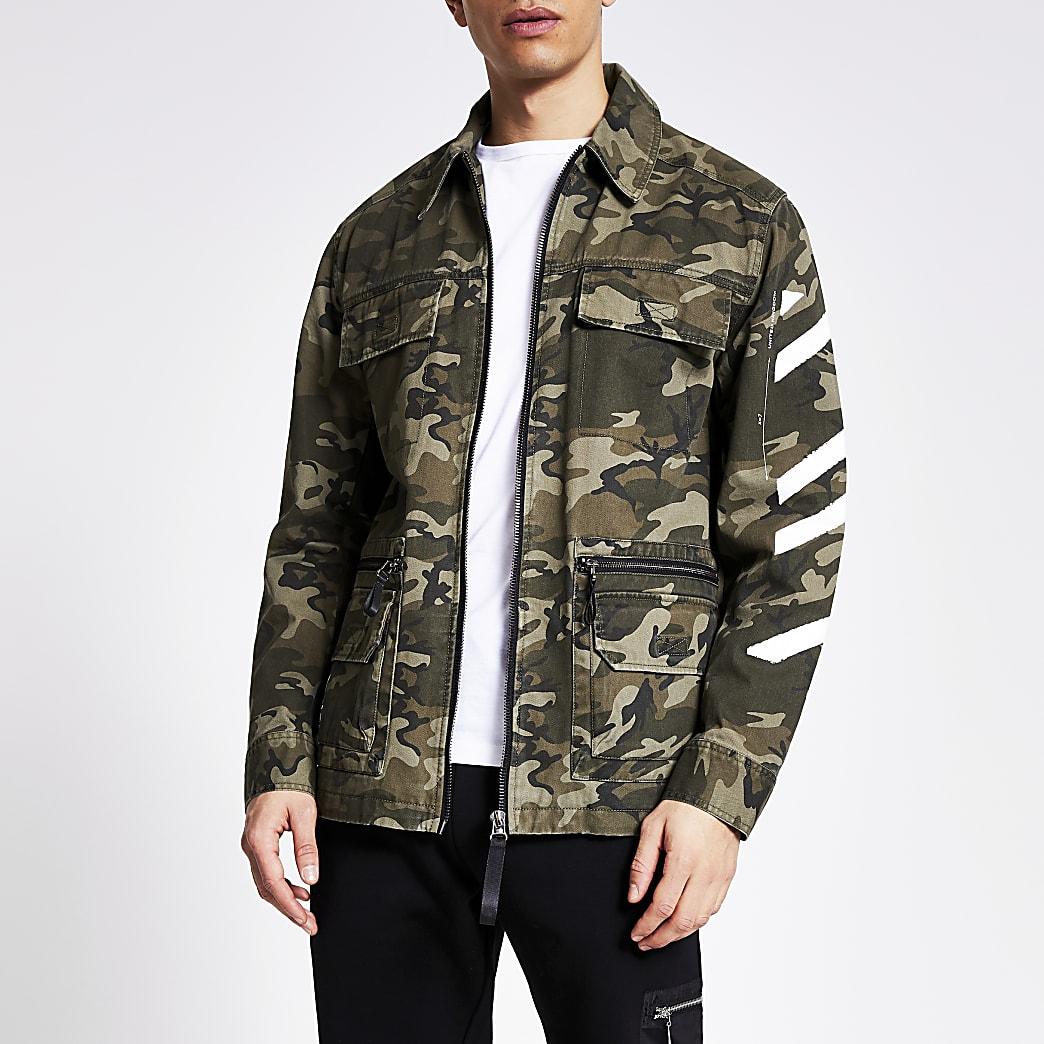 DVSN - Groen jack met camouflageprint