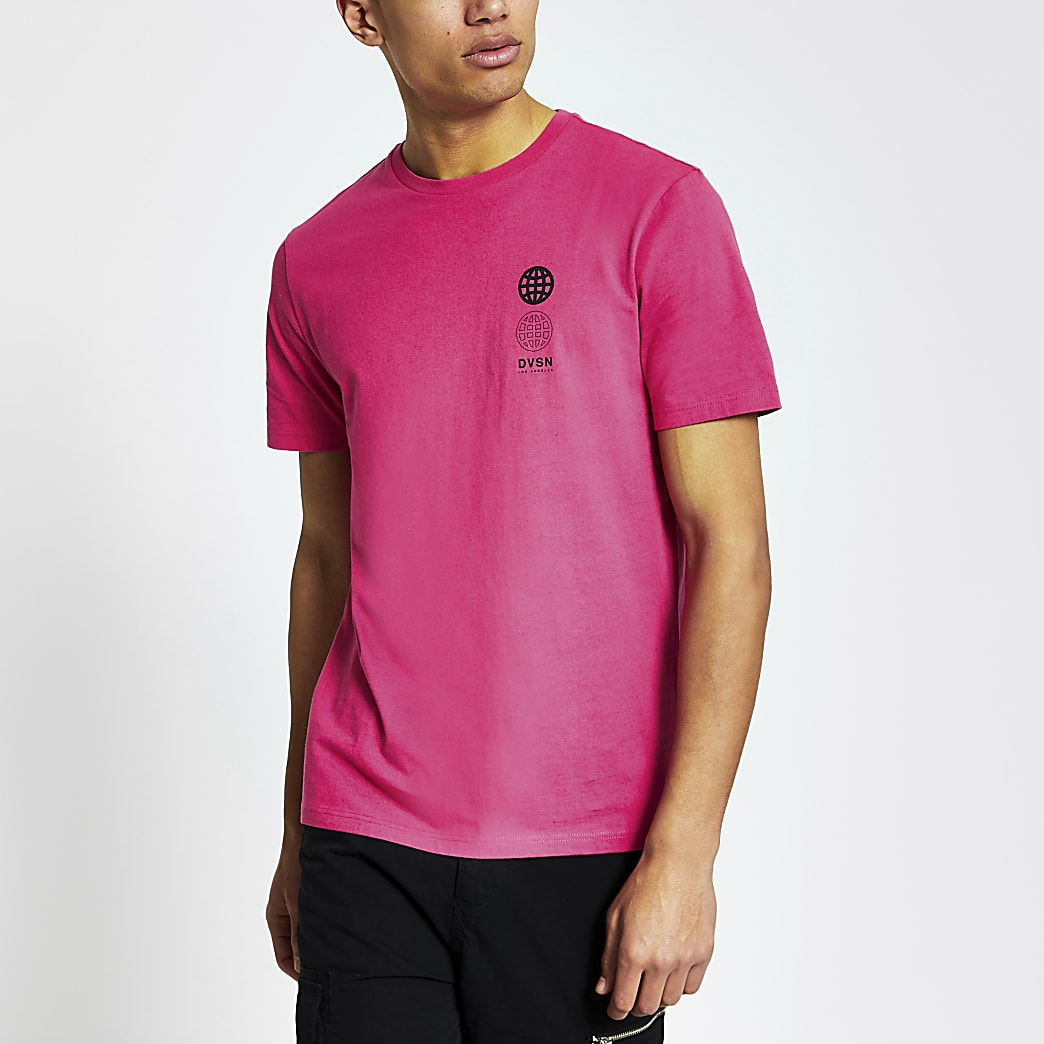 DVSN pink slim fit T-shirt
