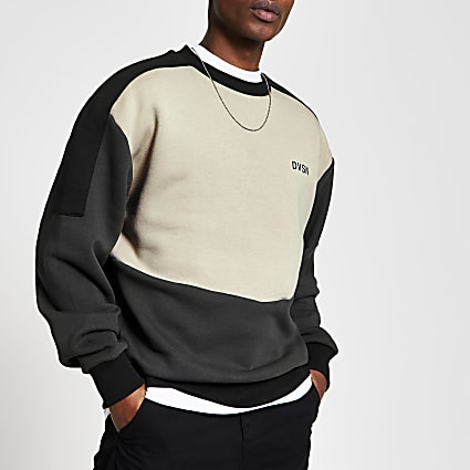 DVSN stone blocked regular fit sweatshirt