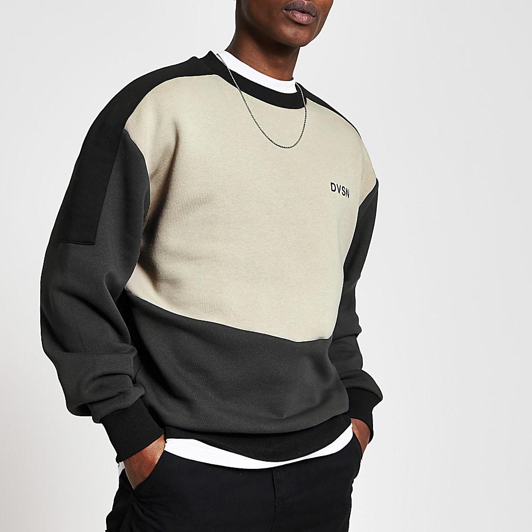 DVSN stone blocked regular fit sweatshirt