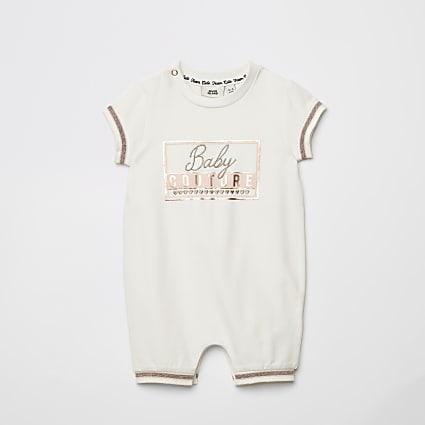 Ecru Baby Couture Romper