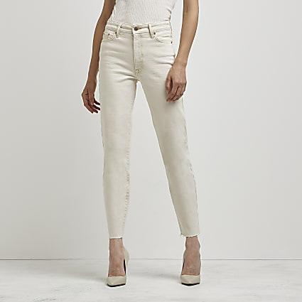 Ecru Blair high waisted jeans