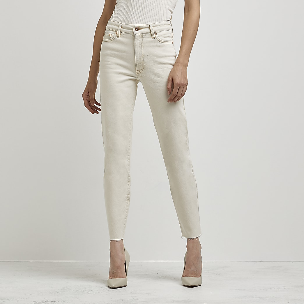 Ecru Blair high waisted jeans